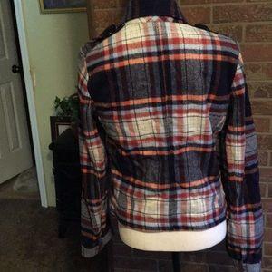 Hollister Jackets & Coats - EUC HOLLISTER  PLAID JACKET SZ L